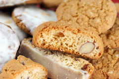 Biscotti background Stock Photos