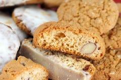 Biscotti bakgrund Arkivfoton