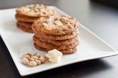 Biscotti bianchi del cioccolato Immagine Stock