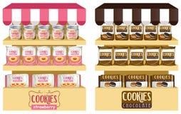 Biscotti in borse e barattoli royalty illustrazione gratis