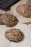 Biscotti caldi del cacao Fotografia Stock Libera da Diritti