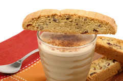 Biscotti and Cappuccino Royalty Free Stock Image