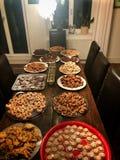 Biscotti casalinghi assortiti di Natale Fotografia Stock