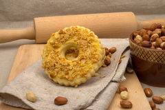 Biscotti casalinghi con le arachidi schiacciate Fotografia Stock Libera da Diritti