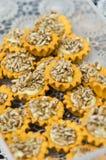 Biscotti casalinghi dei semi di girasole Immagini Stock