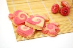 Biscotti casalinghi del biglietto di S. Valentino Immagini Stock Libere da Diritti