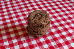 Biscotti casalinghi del cioccolato Fotografie Stock
