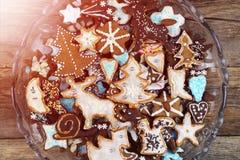 Biscotti casalinghi del pan di zenzero Fotografia Stock
