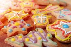Biscotti casalinghi del pan di zenzero Immagini Stock Libere da Diritti