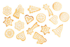 Biscotti casalinghi del pan di zenzero Fotografie Stock