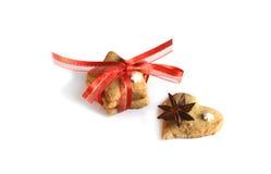 Biscotti casalinghi del pan di zenzero di Natale tavola sul 17 novembre 2014 Fotografia Stock