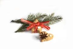 Biscotti casalinghi del pan di zenzero di Natale tavola sul 17 novembre 2014 Fotografia Stock Libera da Diritti