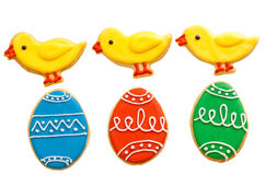Biscotti casalinghi del pan di zenzero di Pasqua Fotografie Stock
