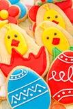 Biscotti casalinghi del pan di zenzero di Pasqua Immagini Stock Libere da Diritti