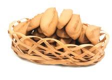 Biscotti casalinghi del pan di zenzero isolati su fondo bianco Fotografie Stock Libere da Diritti