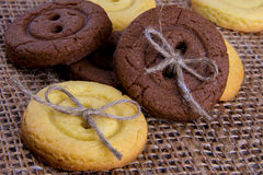 Biscotti casalinghi deliziosi fatti a mano Fotografia Stock