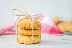 Biscotti casalinghi della noce di cocco Immagine Stock