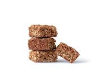 Biscotti casalinghi della noce di cocco della farina d'avena Barra di energia pura Fotografia Stock Libera da Diritti