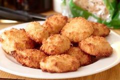 Biscotti casalinghi della noce di cocco Fotografia Stock