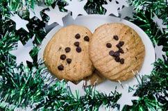 Biscotti casalinghi della pasticceria del cioccolato per il partito o la celebrazione Immagini Stock