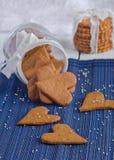 Biscotti casalinghi dello zenzero Immagine Stock
