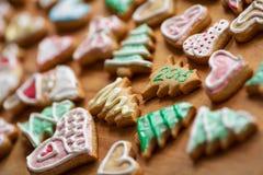 Biscotti casalinghi 2015 di Natale Fotografia Stock Libera da Diritti
