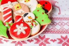 Biscotti casalinghi di natale Fotografia Stock