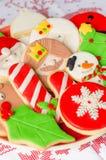 Biscotti casalinghi di natale Fotografie Stock