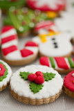 Biscotti casalinghi di natale - pan di zenzero Immagine Stock