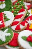 Biscotti casalinghi di natale - pan di zenzero Immagini Stock Libere da Diritti