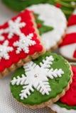 Biscotti casalinghi di natale - pan di zenzero Fotografia Stock