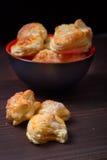Biscotti casalinghi pungenti Immagini Stock