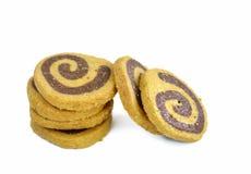 Biscotti casalinghi su bianco Fotografia Stock Libera da Diritti