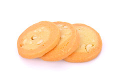 Biscotti casalinghi su fondo bianco Fotografia Stock