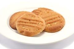 Biscotti casalinghi su una zolla Immagini Stock Libere da Diritti