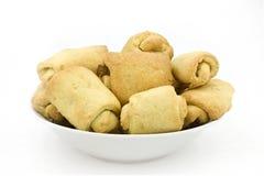 Biscotti casalinghi in un piatto Fotografia Stock
