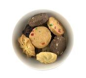Biscotti in ciotola Fotografie Stock