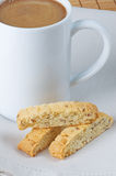Biscotti With Coffee Royalty Free Stock Photo