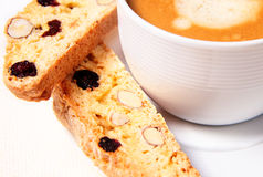 Biscotti with coffee Royalty Free Stock Photos