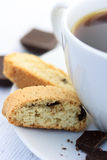 Biscotti with coffee Stock Image