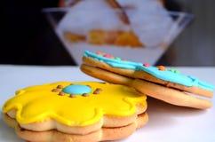 Biscotti a colori immagini stock libere da diritti