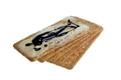 Biscotti con burro e marmite Immagine Stock