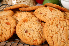 Biscotti con butirroso, fragile, bit Immagine Stock