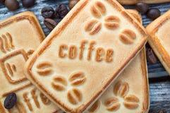 Biscotti con caffè Fotografia Stock
