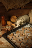 Biscotti con cannella 7 Fotografie Stock
