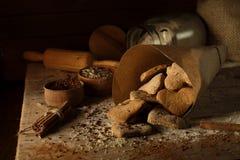 Biscotti con cannella 9 Immagine Stock Libera da Diritti