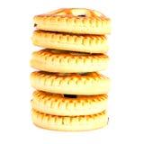 Biscotti con Cherry Jam Immagine Stock