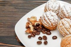 Biscotti con crema Immagini Stock Libere da Diritti
