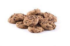 Biscotti con di pepita di cioccolato dentro Fotografie Stock