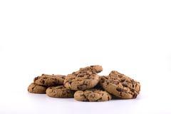 Biscotti con di pepita di cioccolato dentro Fotografia Stock Libera da Diritti